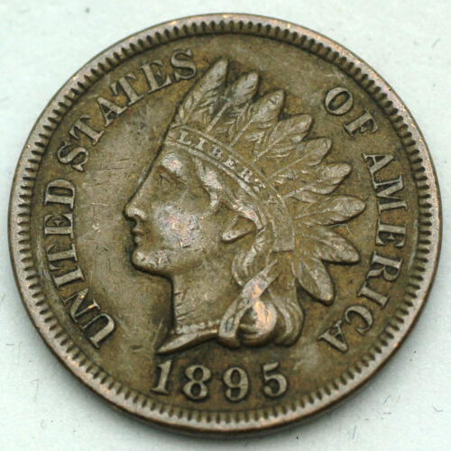 1895 Indian Head Cent - EF/XF