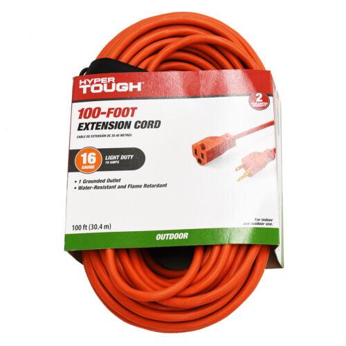 100 ft., 16/3 Extension Cord, Orange, Indoor/Outdoor Use