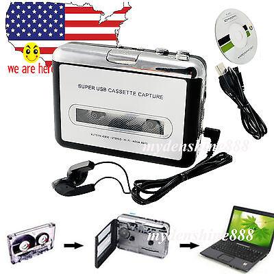 POCKET USB Cassette Tape to MP3 iPod CD Converter Capture Music Player walkman