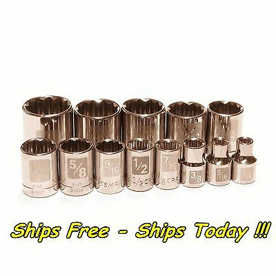 Craftsman 13pc 3/8 Drive 12pt Point SAE ...