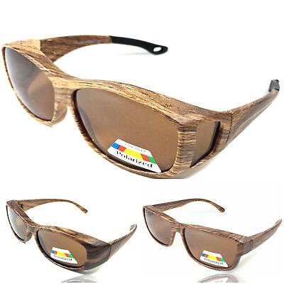Sonnenbrille Retro Style matt Holzoptik 100% UV 400 Protection Polarisiert