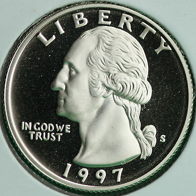 1997 CLAD PROOF WASHINGTON QUARTER 25C COIN