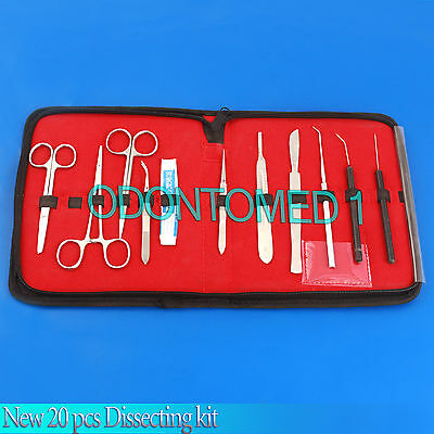 New 20 Pcs Dissecting Kit   Dissection Kit   Anatomy Kit For Medical Students