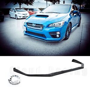 2016 2015 subaru wrx sti v limited front lip urethane impreza. Black Bedroom Furniture Sets. Home Design Ideas