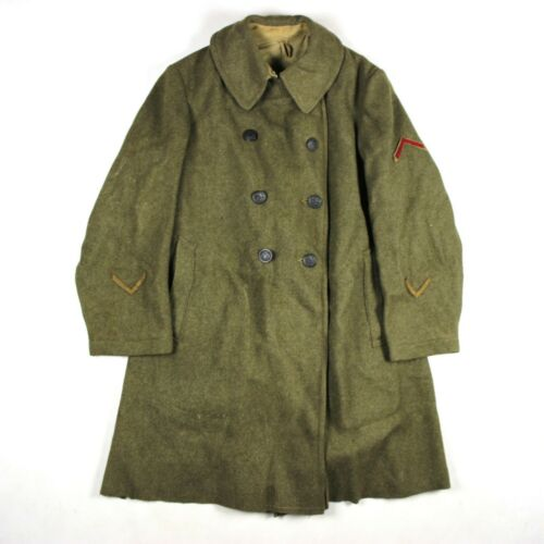 WWI US ARMY M1917 M17 ENLISTED MEN EM OD WOOL OVERCOAT COAT LARGE SIZE 40R
