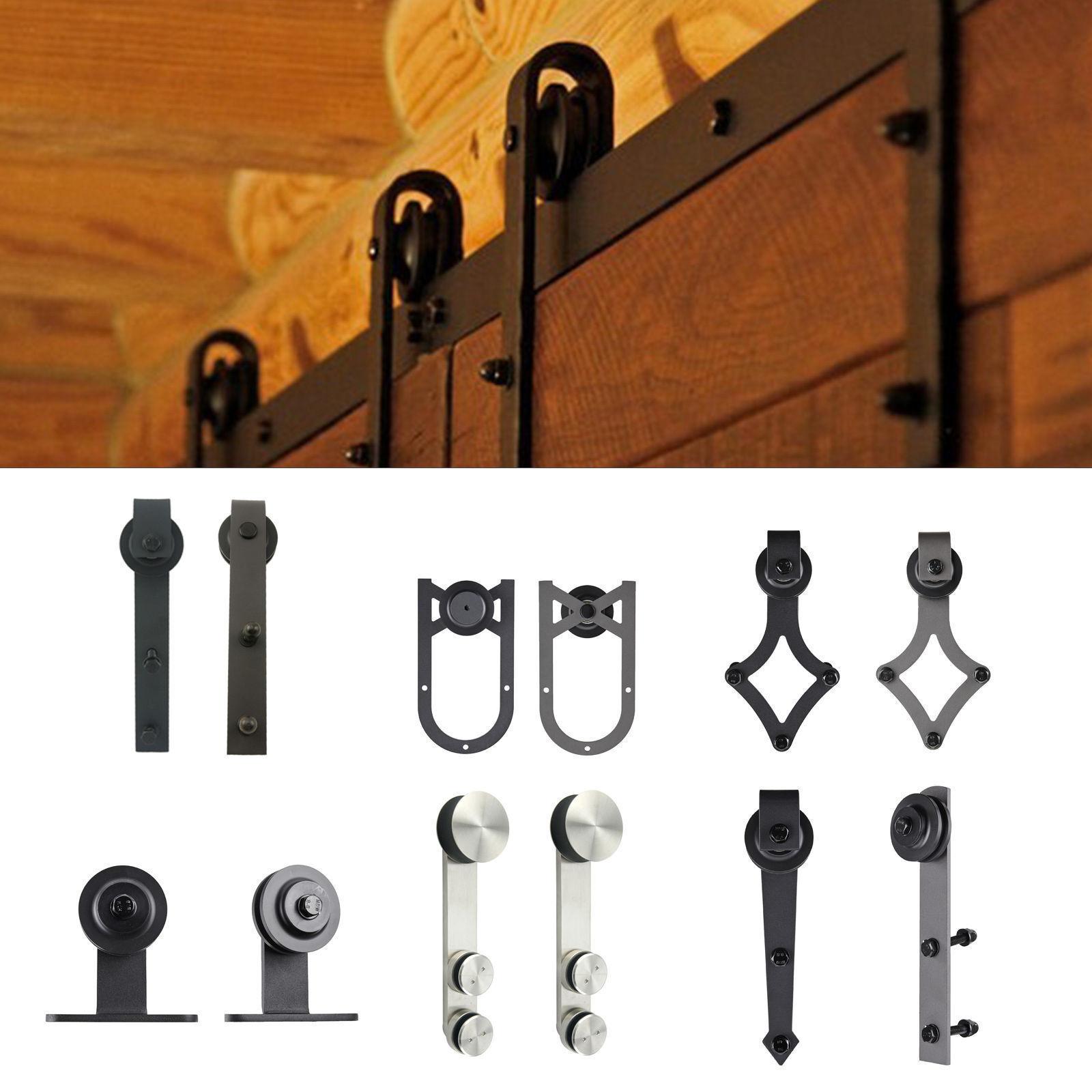 new double sliding door hardware rustic black barn sliding t