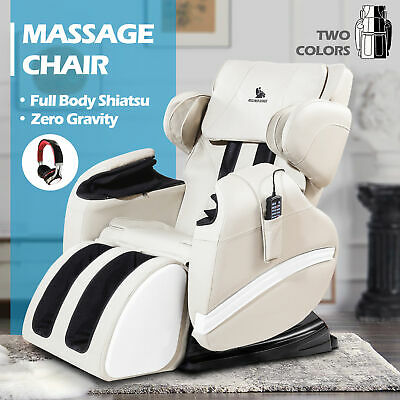 Deluxe Recliner Full Body Shiatsu Massage Chair ZERO GRAVITY w/ Foot Rest Heat