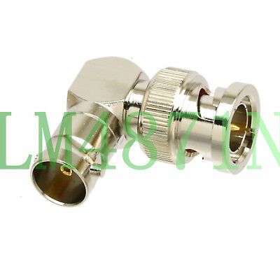 mini-SDI HD PLC AB 75ohm BNC Plug to Jack right angle elbow RF coaxial L adapter 75 Ohm Bnc Adapter