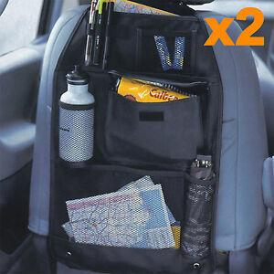 2X Car Back Seat Organiser Multi Pocket Storage Travel Tidy Bag Holder Kids Toys