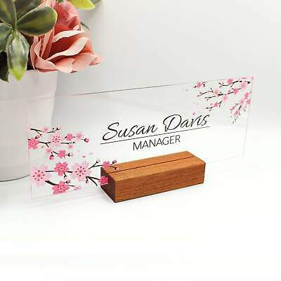Personalized Desk Name Plate For Women Decor Sign Modern Office Business And Tea