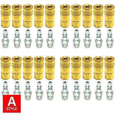 A Style Quick Coupler Air Hose Connector Fittings 14 Npt Tools Plug Compressor