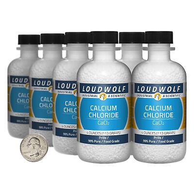 Calcium Chloride 2 Pounds 8 Bottles 99 Pure Food Grade Prills Usa