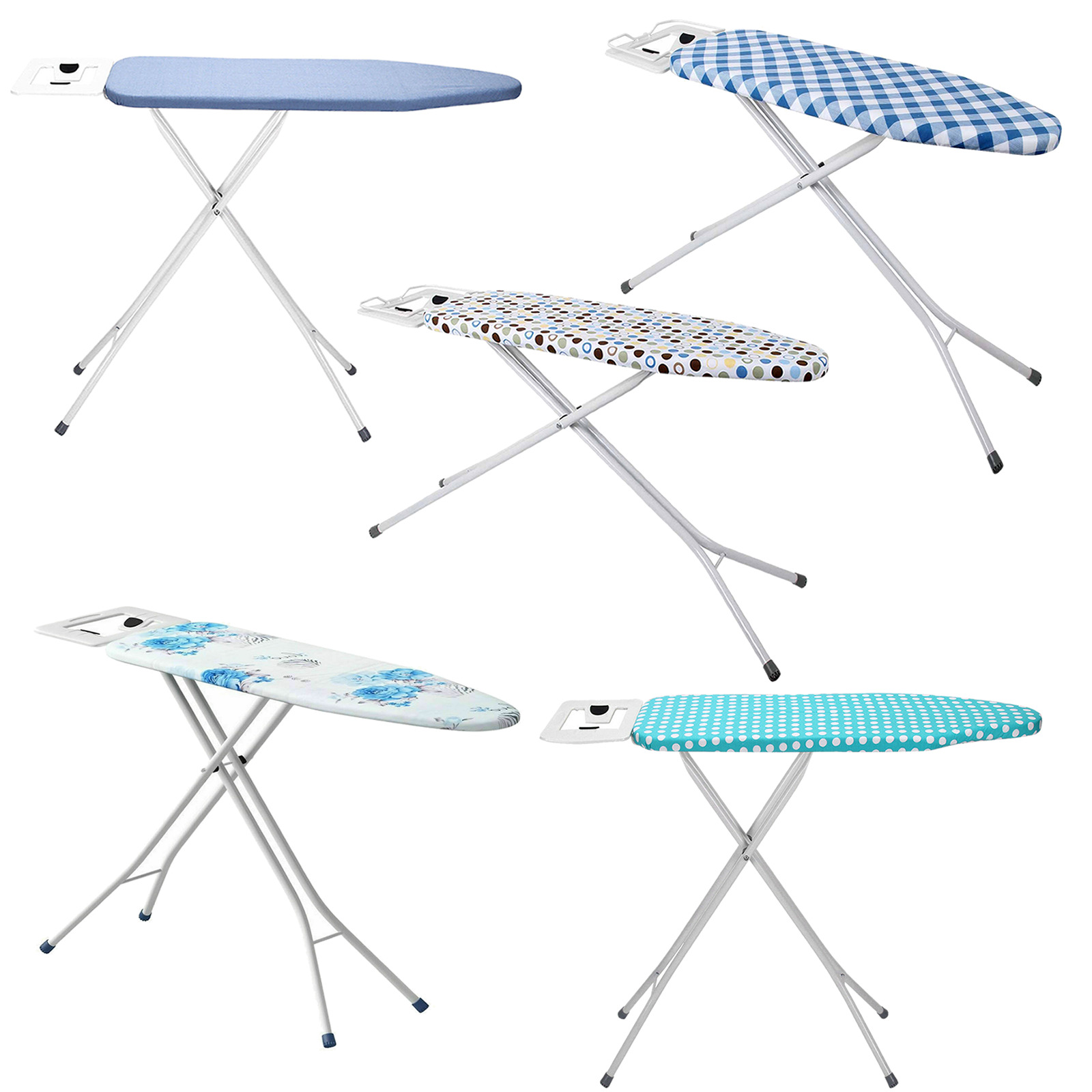 IRONING BOARD DELUXE WIDE FOLDING METAL IRON RACK FOLDABLE ADJUSTABLE HEIGHT