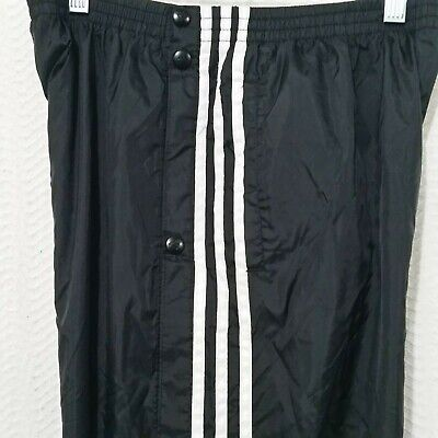 ADIDAS Sulky Activewear Snaps Sides Nylon Lined STRIPES   PANTS XL