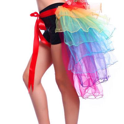 Modern Damen Frauen Tüllrock Pfaurock Pfau Rock Tutu Tütü Petticoat Kostüm 65cm ()