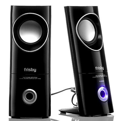 Frisby FS-50NU 2.0 Computer PC Laptop Desktop Speakers w/ Headphone & Mic Jacks