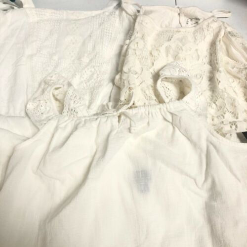 Lot of 3 NWT Girls' XL White Tank Tops & Sleeveless Dress
