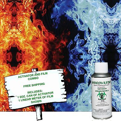 Hydro Dip Hydrographic Film Water Transfer 6oz Activator Wmulti Flame Kit