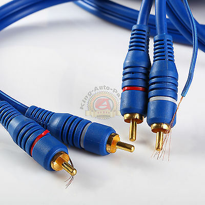 18FT Noise Cancellation RCA Dual RCA Cable 2 Male to Male Stereo Audio Cable