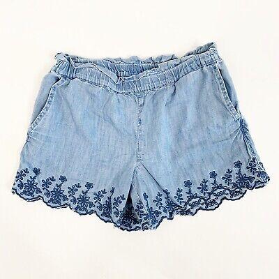 Girls Chambray Shorts (Gap Kids Girls Chambray Denim Jean Eyelet Pull On Shorts Size Medium)