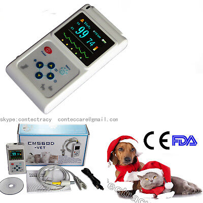 Fda Veterinary Pulse Oximeter Pr Animal Tongue Ear Spo2 Probesoftware Cms60dvet