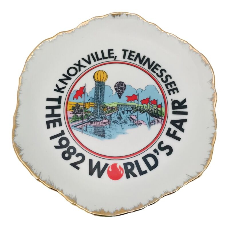 1982 World's Fair Knoxville Tennessee Decorative Hanging Wall Plate 7 Inches
