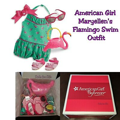 American Girl MaryEllen's Flamingo Swim Suit Outfit NEW IN BOX swimsuit