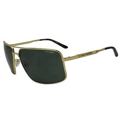 Arnette AN 3063-04 Bacon 503/71 Polished Gold Grey Green Metal Mens Sunglasses (Bacon Sunglasses)