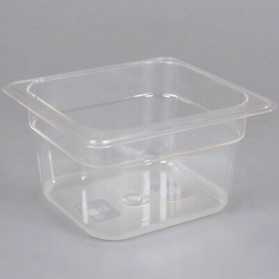 Commercial 16 Size 4 Deep Clear Poly Carbonate Prep Table Food Pan 6 Pack