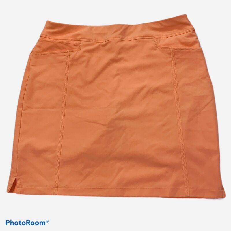 Women's ADIDAS Adistar Pull On Skort Small S Orange MSRP $70 CD3990 EUC