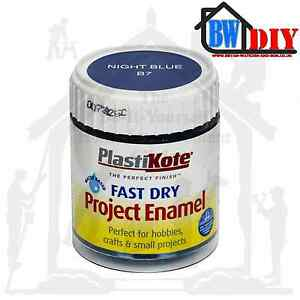 plasti kote fast dry enamel brush on paint 59ml jar hobby