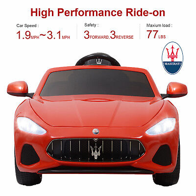 Maserati Gran Cabrio 12V Kid Ride On Toy Car Electric Battery Remote Control Red