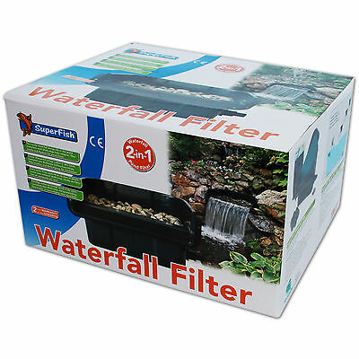 SUPERFISH WATERFALL FILTER WASSERFALLSET - 42cm Wasserfall Filter Teich Bachlauf