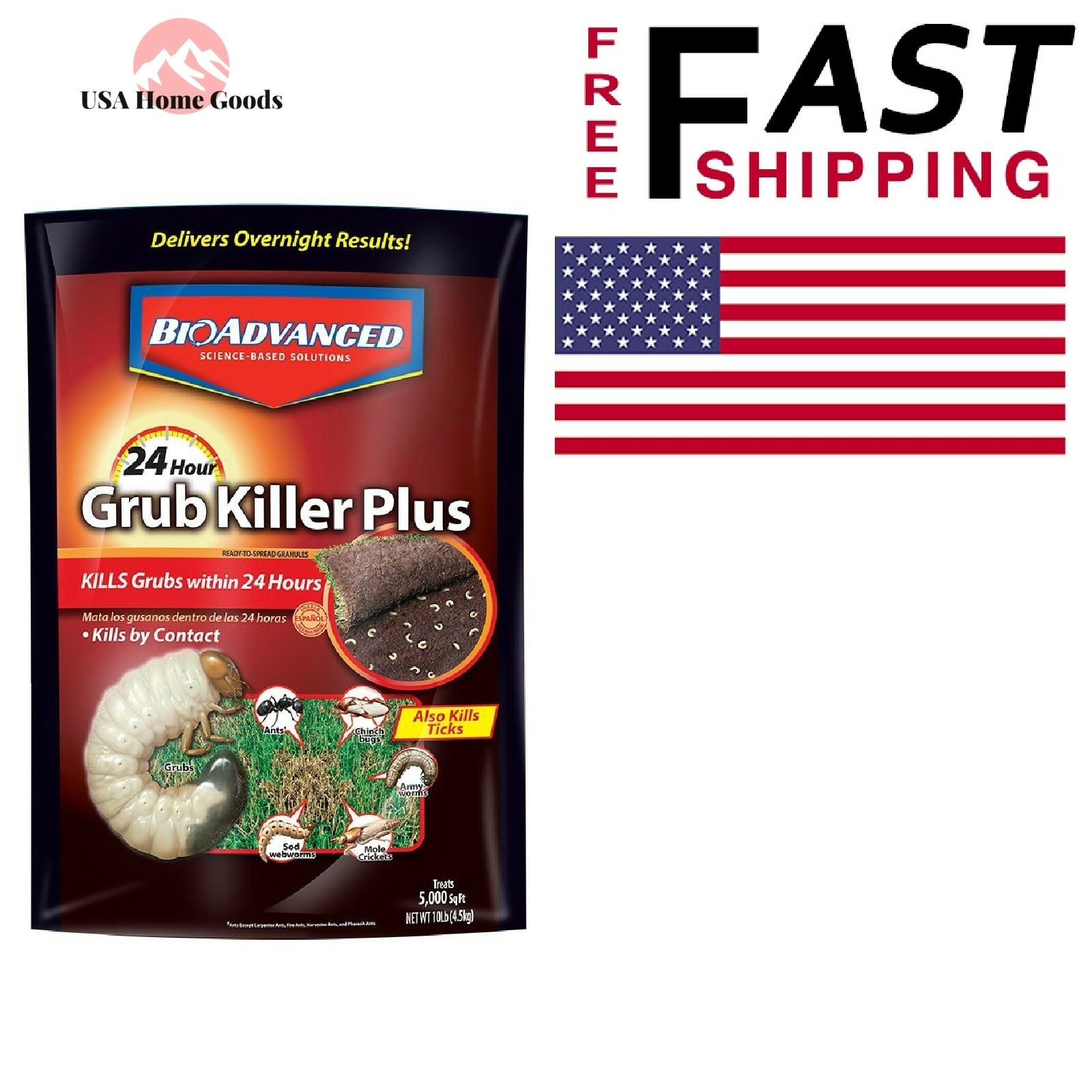 Bayer Advanced 700750 24 Hour Grub Killer Plus Granules 10-P