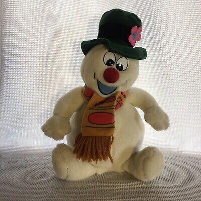 Gemmy Animated Frosty The Snowman Singing Christmas Plush Sitting