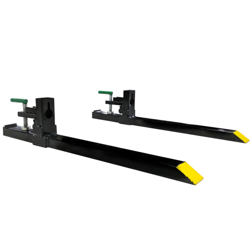 """Titan 30"""" Clamp-on Pallet Forks Attachment for Small Tractor/Skid Steer Buckets"""