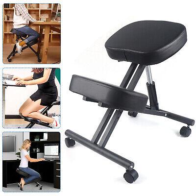 Black Ergonomic Kneeling Chair Adjustable Stool For Homeoffice Support 250lbs
