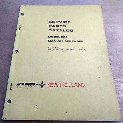 New Holland 328 Manure Spreader Parts Catalog Manual Nh