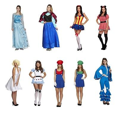 Female Adult Fancy Dress Up Outfits Various Hen Party Womens Outfit Freshers NEW ()