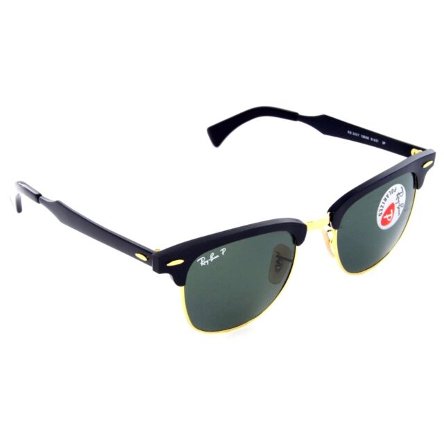 ray ban clubmaster aluminum  Ray-Ban Clubmaster Aluminum - Black/Arista Frame Polar Green 51mm ...