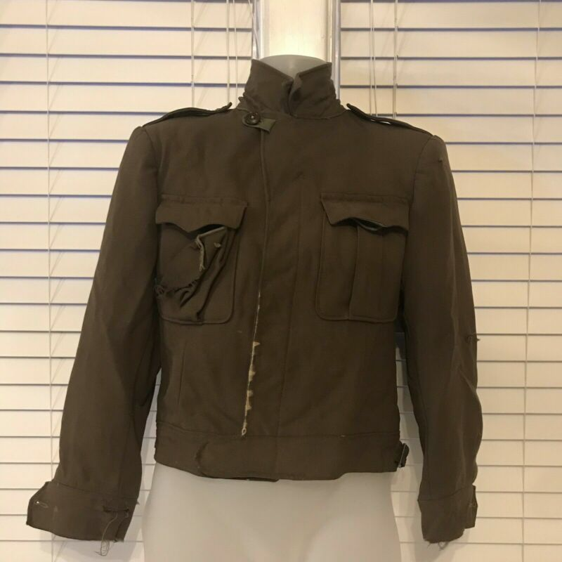 Vintage US Military WWII Ike Coat Grunge Destroyed Distressed Small Or Medium