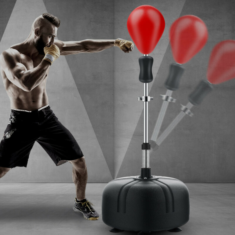 US Freestanding Punching Bag Boxing Speed Ball for Adult Kids MMA Training Sport