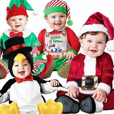 Baby Babies Toddler Christmas Xmas Santa Elf Babygrow Fancy Dress Outfit Costume (Toddler Santa Costume)