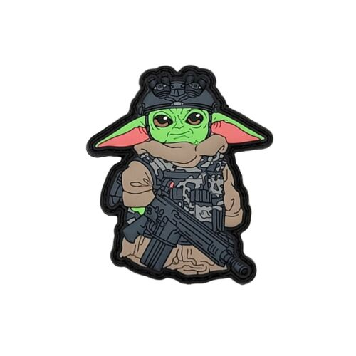 The Child - Baby Yoda - Mandalorian PVC Hook & Loop Tactical Morale Patch *NEW*