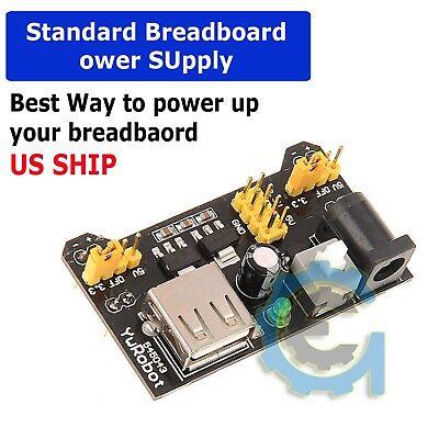 Breadboard Power Supply Module 3.3v5v For Mb102 Breadboard Arduino - Us Seller