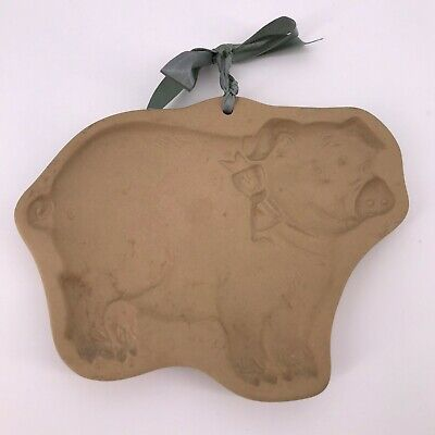 Brown Bag Cookie Art by Hull Flying smiling Pig 1986 great -