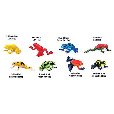 Poison Dart Frogs Toob Mini Figures Safari Ltd NEW Toys Educational Collectibles - Frog Toys