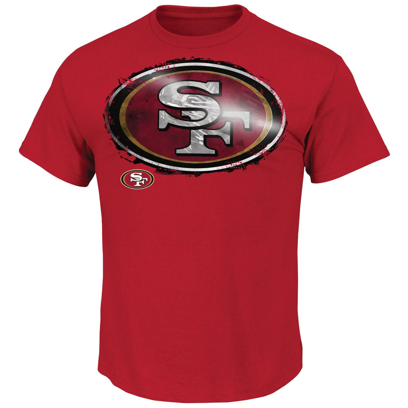 NFL T-Shirt San Francisco 49ers Line to Gain Football Majestic Logo