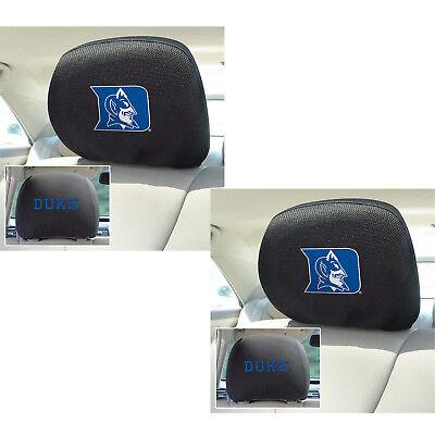 New 2pc NCAA Duke Blue Devils Automotive Gear Car Truck Headrest Covers Set
