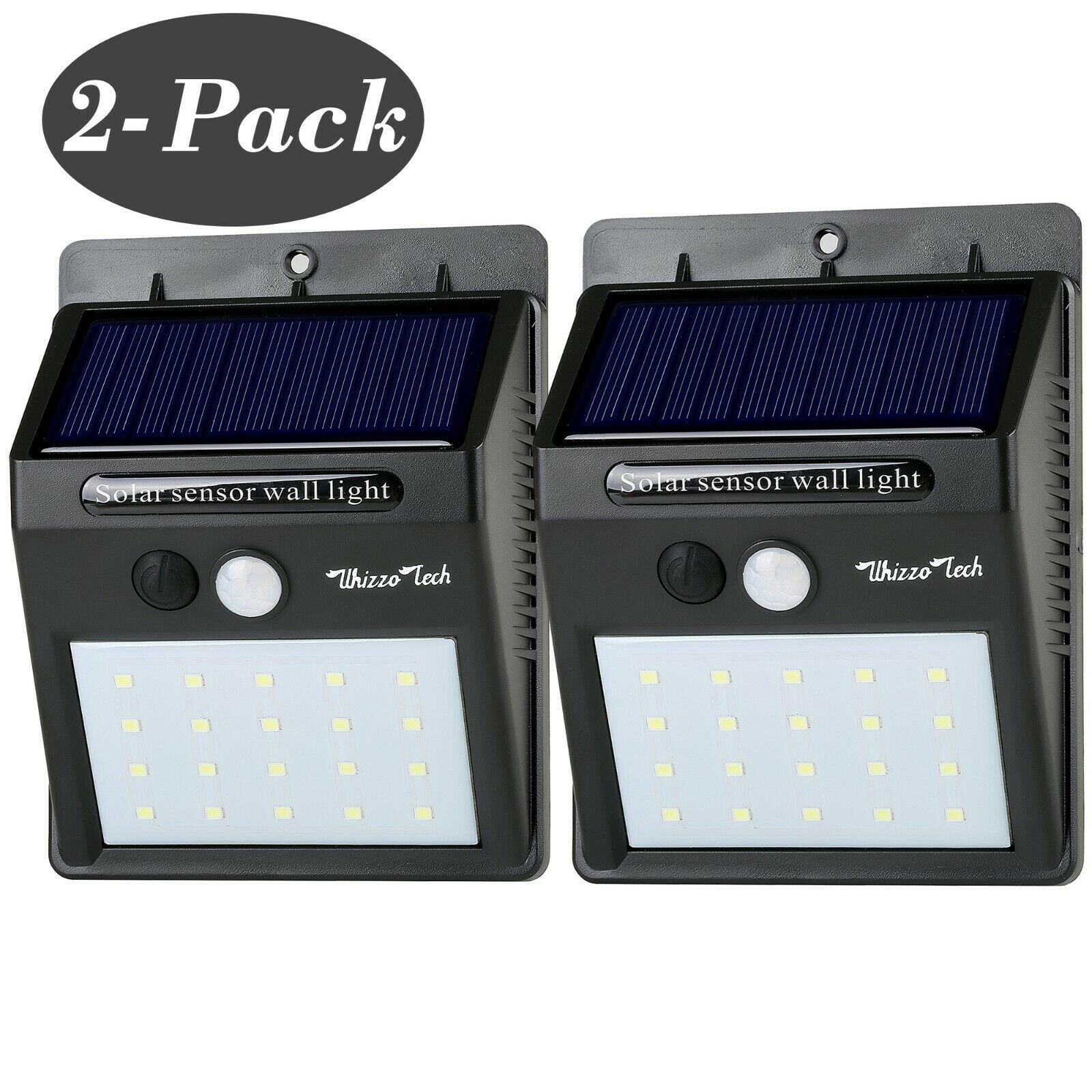 Outdoor Solar Lights Motion Sensor Wall Light Waterproof Gar